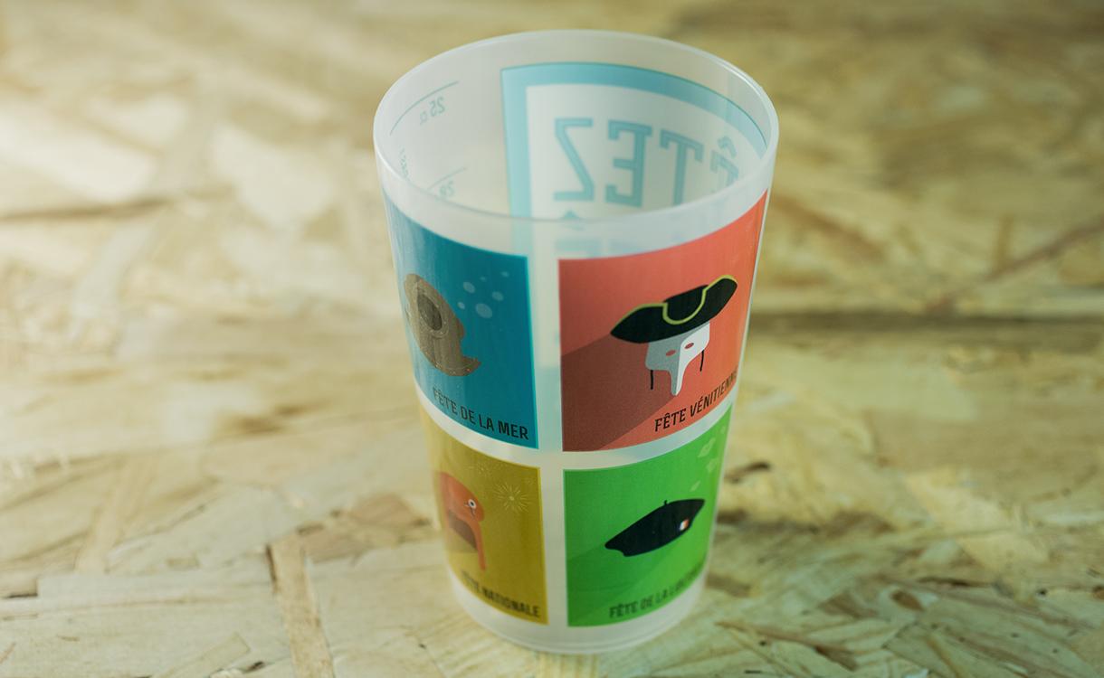 Éco-cup promotionnel des fêtes de l'été 2014 à Martigues