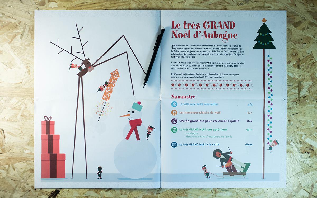 2e de couverture du programme du Très grand noël d'Aubagne