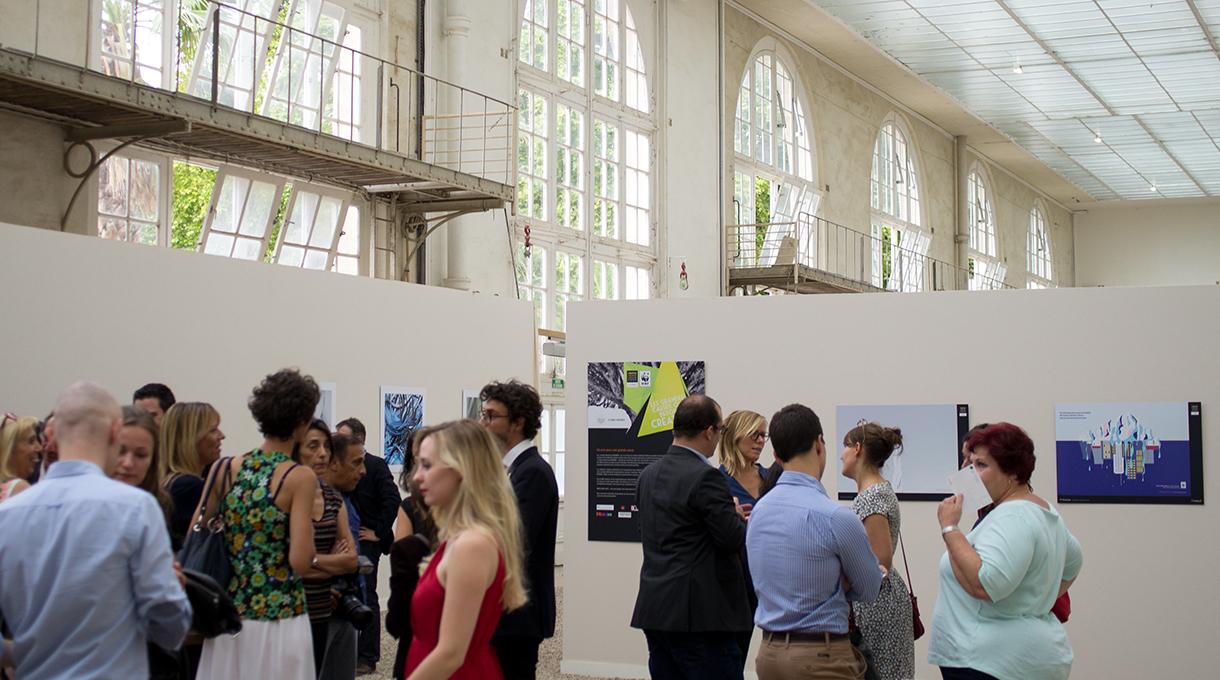 À l'intérieur de l'Orangerie du Sénat - Exposition des Creative awards WWF
