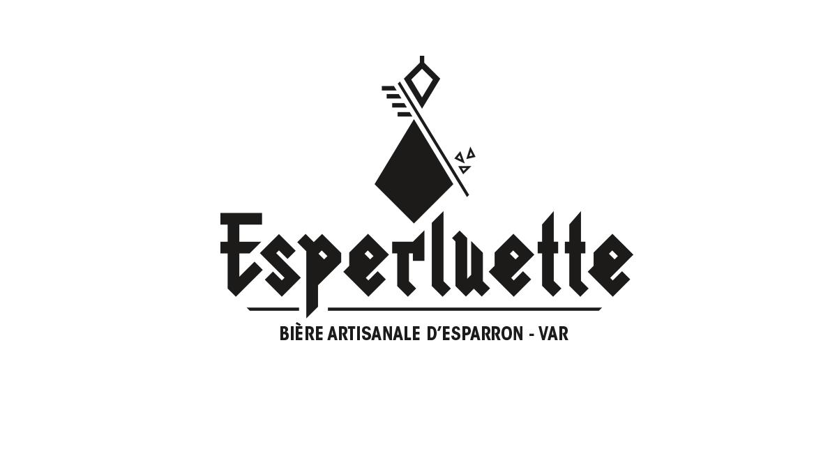 L'identité visuelle de la brasserie artisanale en noir sur fond blanc.