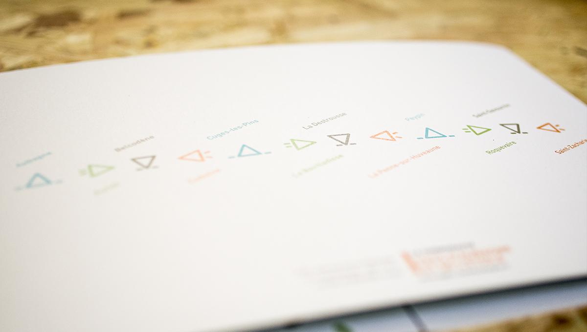 Dos de la carte de vœux envoyée par la communauté d'agglomération à ses administrés. vidéo marseille