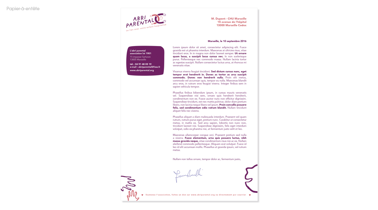 Les courriers officiels de l'association