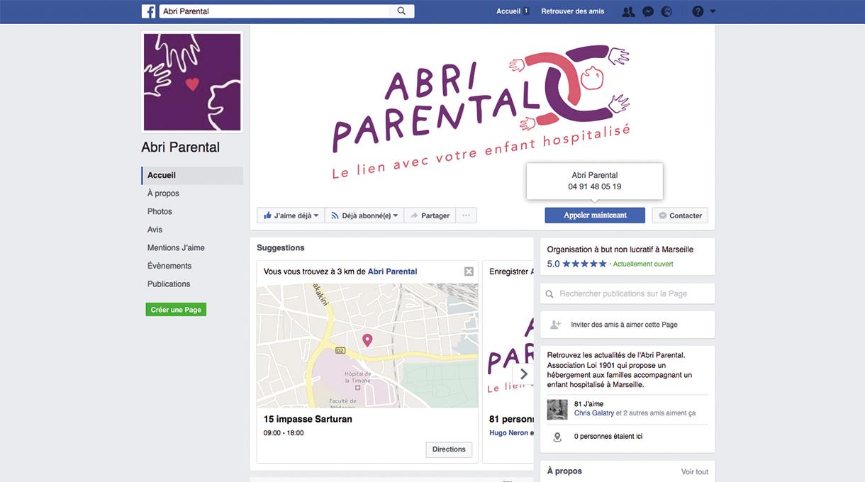 la page Facebook de l'association