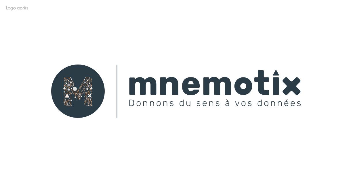 Le nouveau logo de Mnemotix. Mnemotix, donnons du sens à vos données