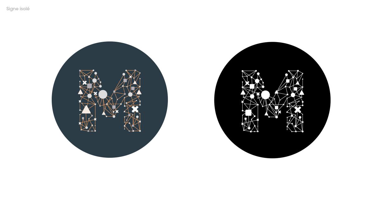 Le signe graphique issu du logo de Mnemotix